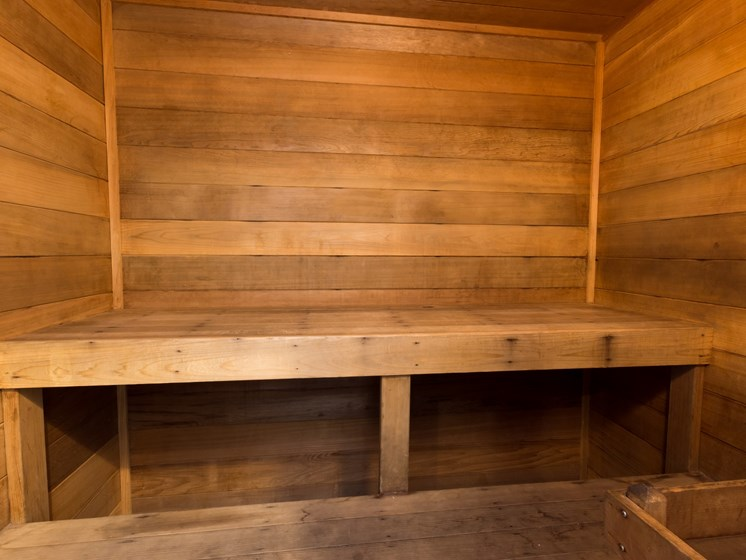 Relax in our Dry Sauna