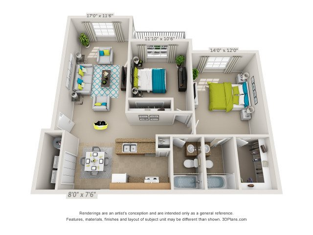 The Cabana Floor Plan 2