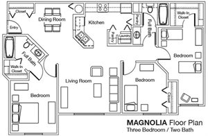 Whispering Pines 3x2 Floor Plan