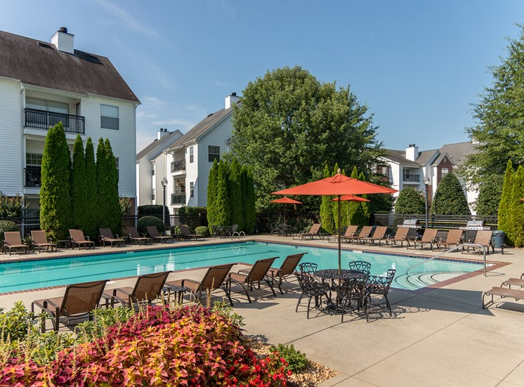 Swift Creek Commons Apartments - Poolside sundeck
