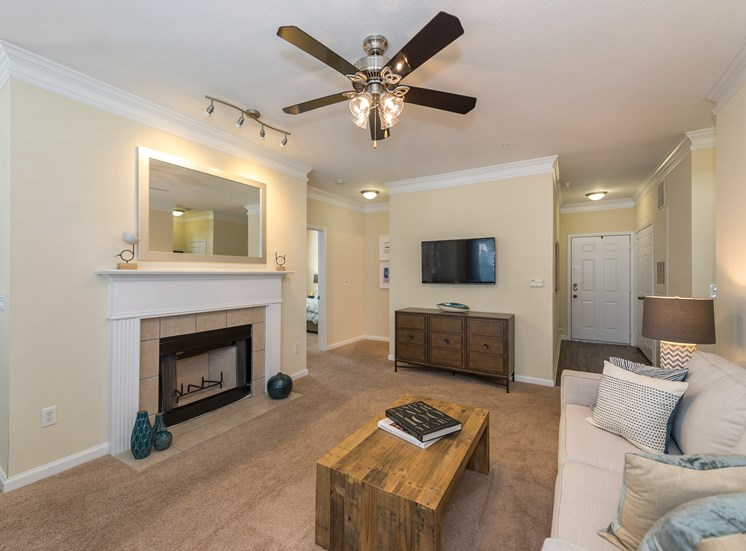Swift Creek Commons Apartments - Wood-burning fireplaces with mantels available