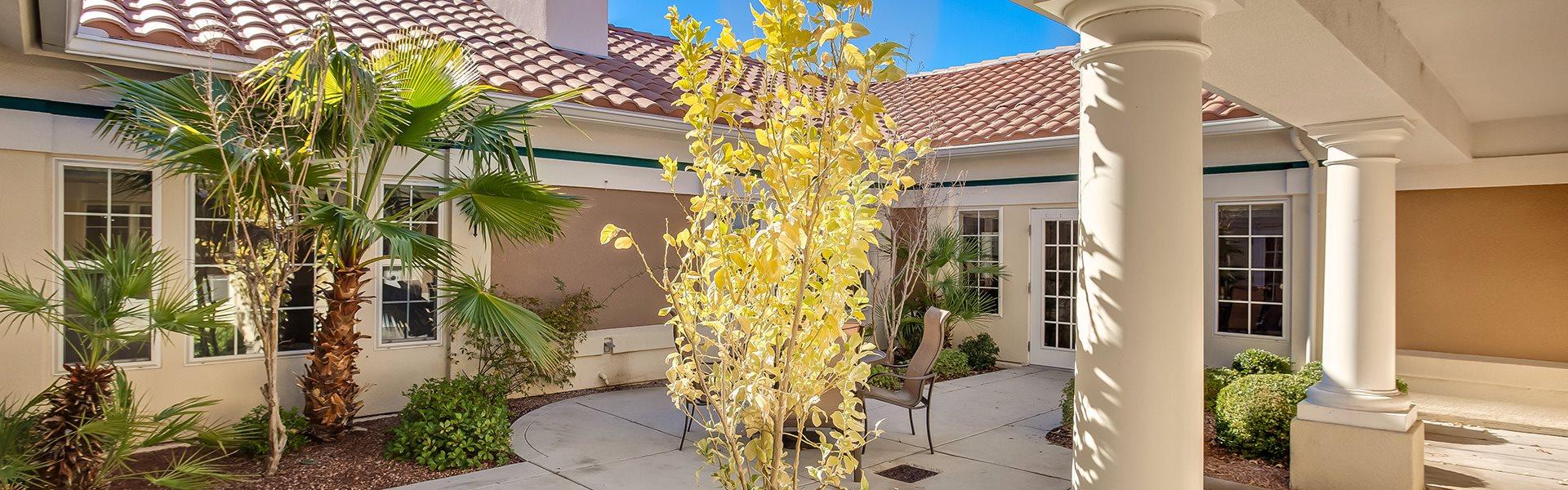 Beautiful Courtyard at Pacifica Senior Living Spring Valley, Las Vegas, 89147